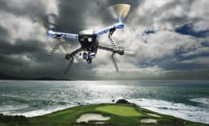 A drone flies over Pebble Beach, providing some unique views of one of the world's most famous golf courses.