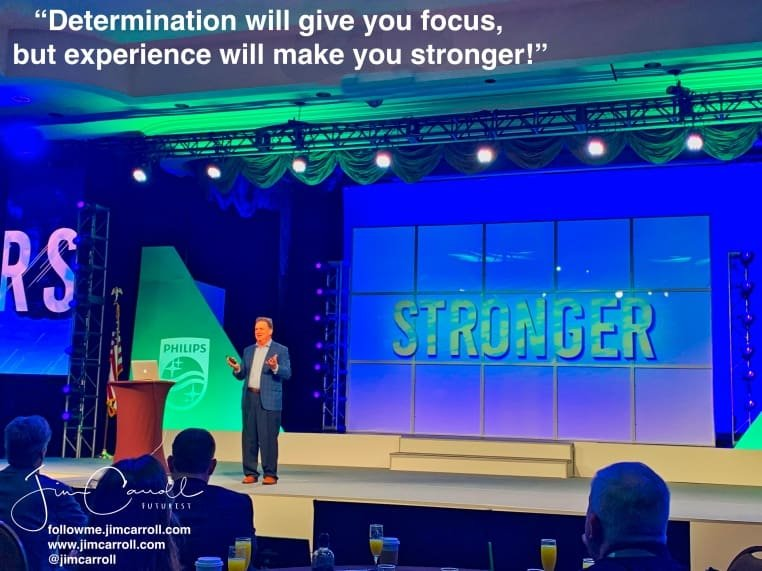 """Daily Inspiration: """"Determination will give you focus, but experience will make you stronger!"""""""