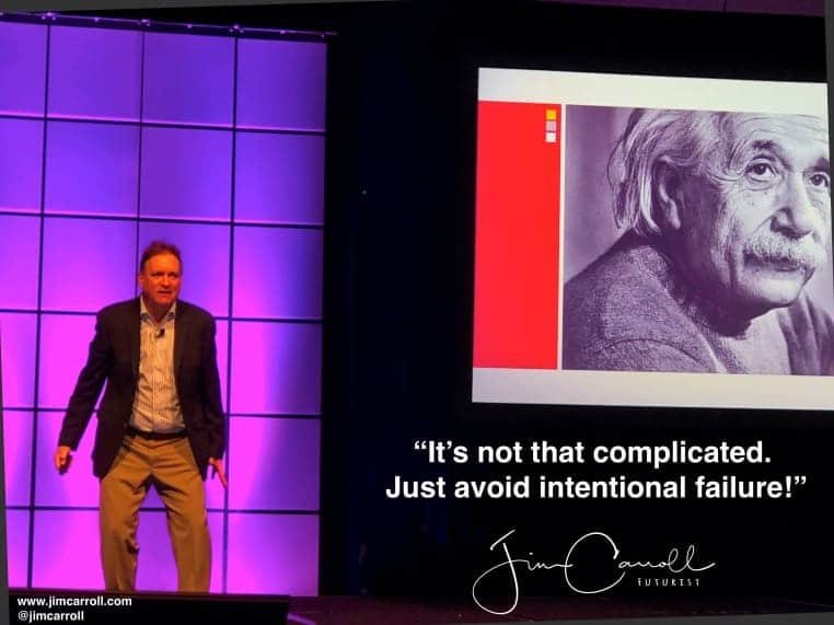 "Daily Inspiration: ""It's not that complicated. Just avoid intentional failure!"""