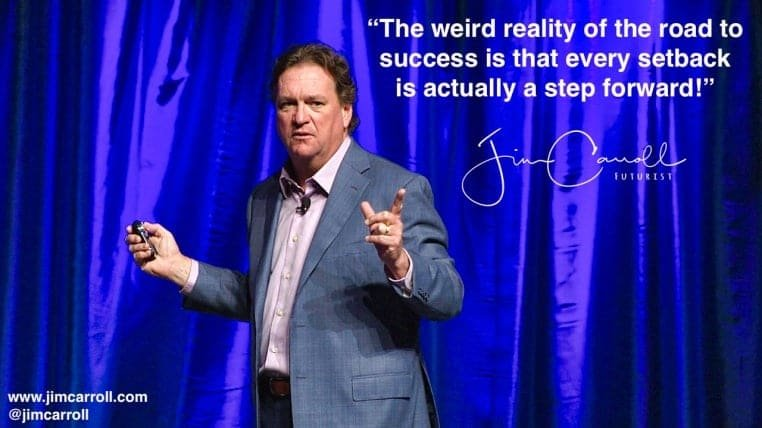 """Daily Inspiration: """"The weird reality of the road to success is that every setback is actually a step forward!"""""""