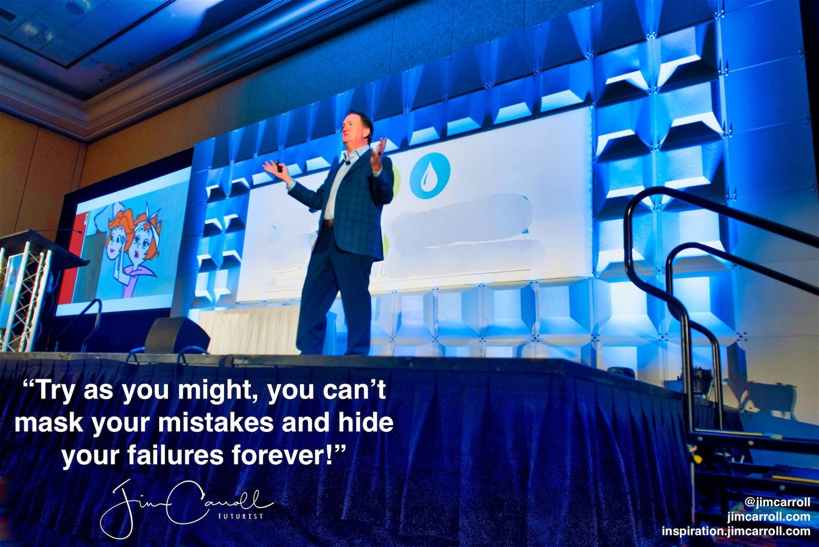 """Daily Inspiration: """"Try as you might, you can't mask your mistakes and hide your failures forever!"""""""