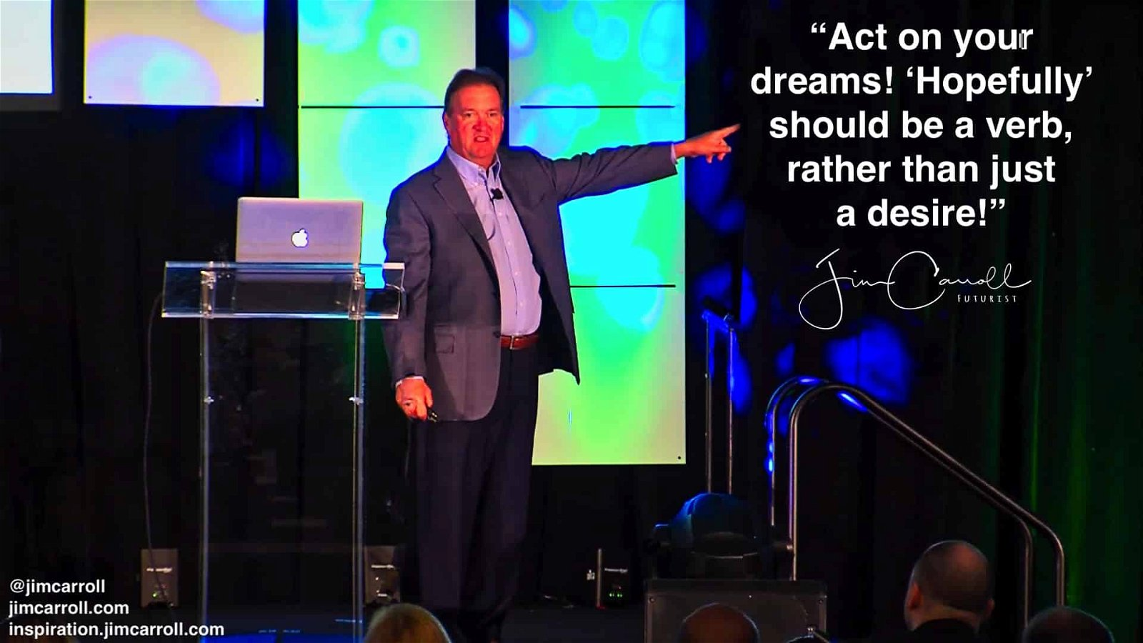 """Daily Inspiration: """"Act on your dreams! 'Hopefully' should be a verb, rather than just  a desire!"""""""
