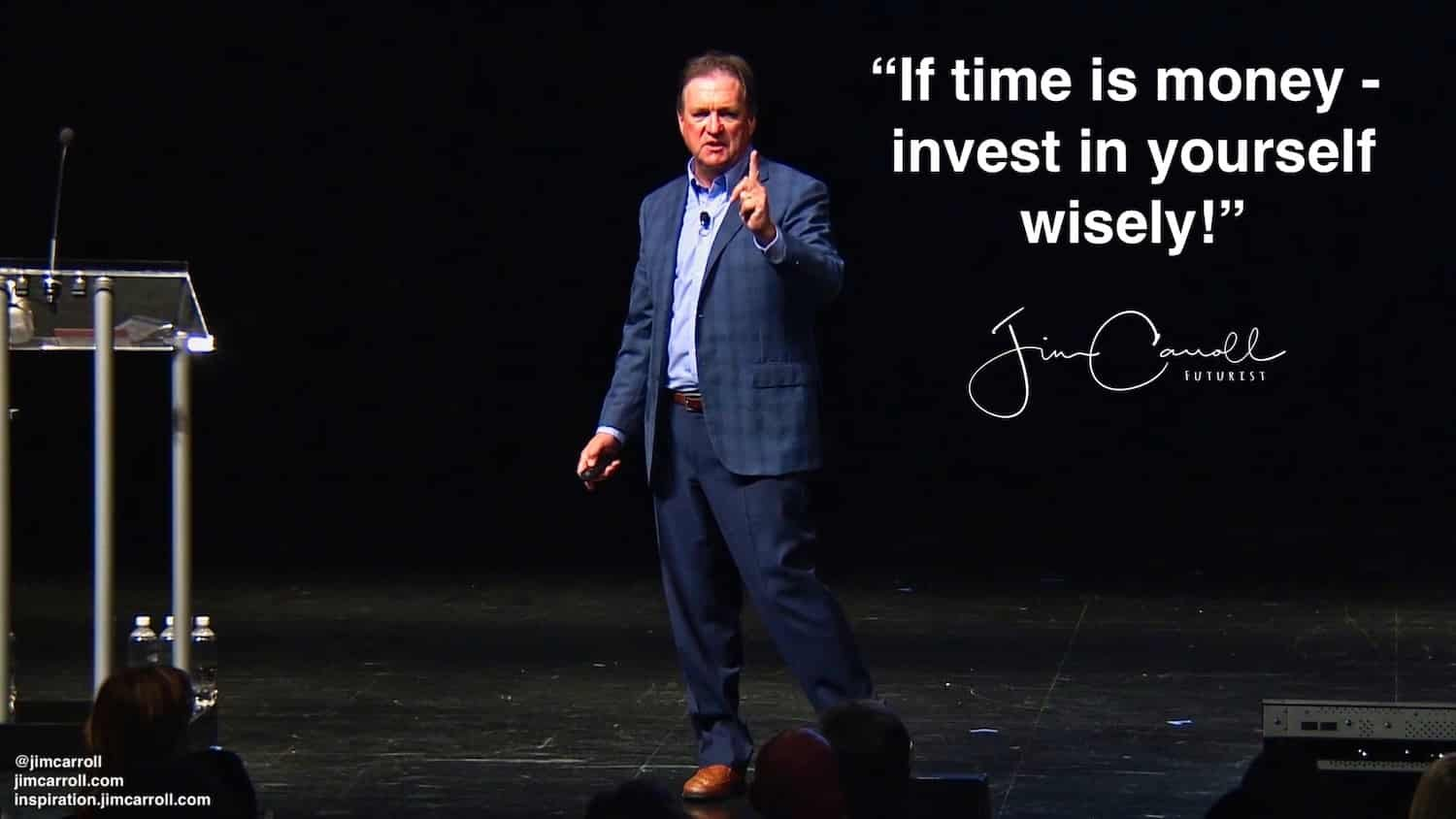 """Daily Inspiration: """"If time is money - invest in yourself wisely!"""""""