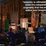 """Daily Inspiration: """"Imitation is ultimately a failure when it's compared to the originality that lies embedded within your imagination!"""""""