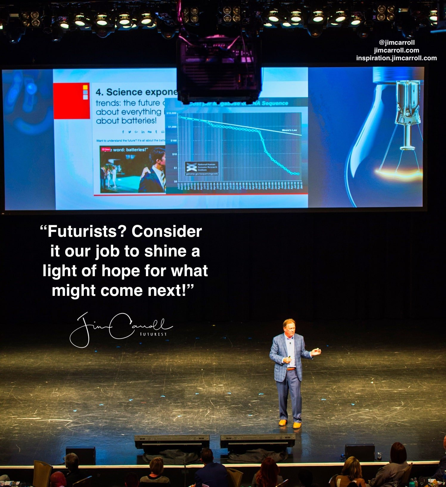"""Daily Inspiration: """"Futurists? Consider it our job to shine a light of hope for what might come next!"""""""