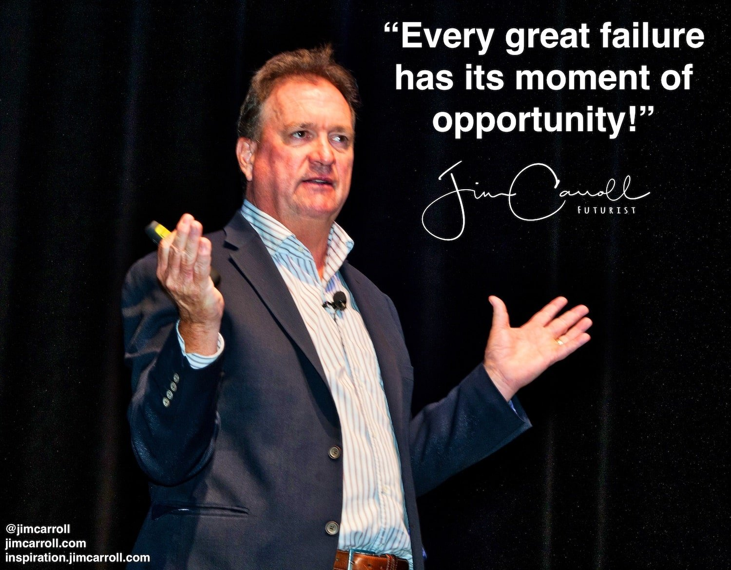 """Daily Inspiration: """"Every great failure  has its moment of opportunity!"""""""