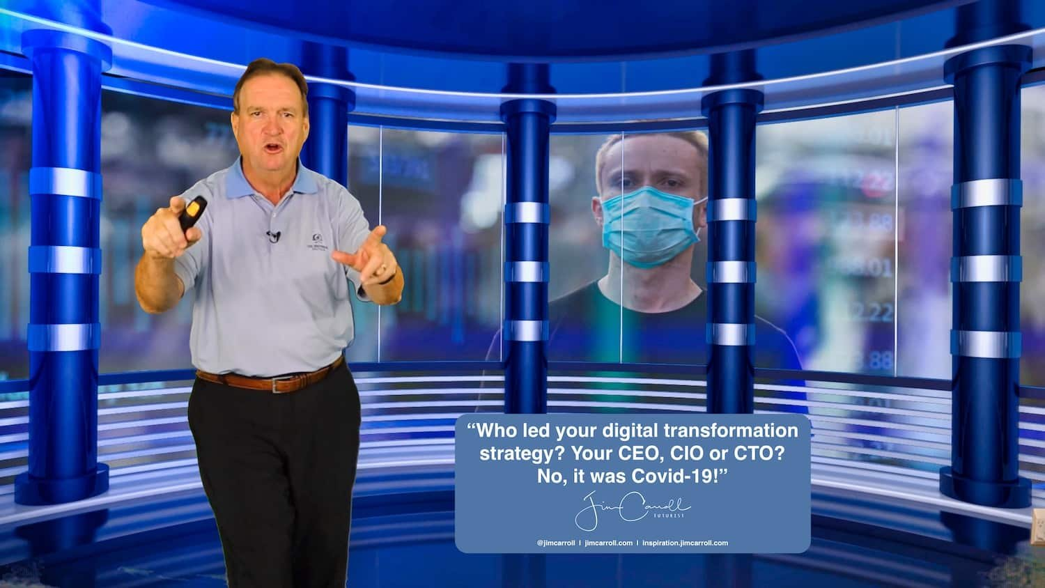 """Daily Inspiration: """"Who led your digital transformation strategy? Your CEO, CIO or CTO? No, it was Covid-19!"""""""
