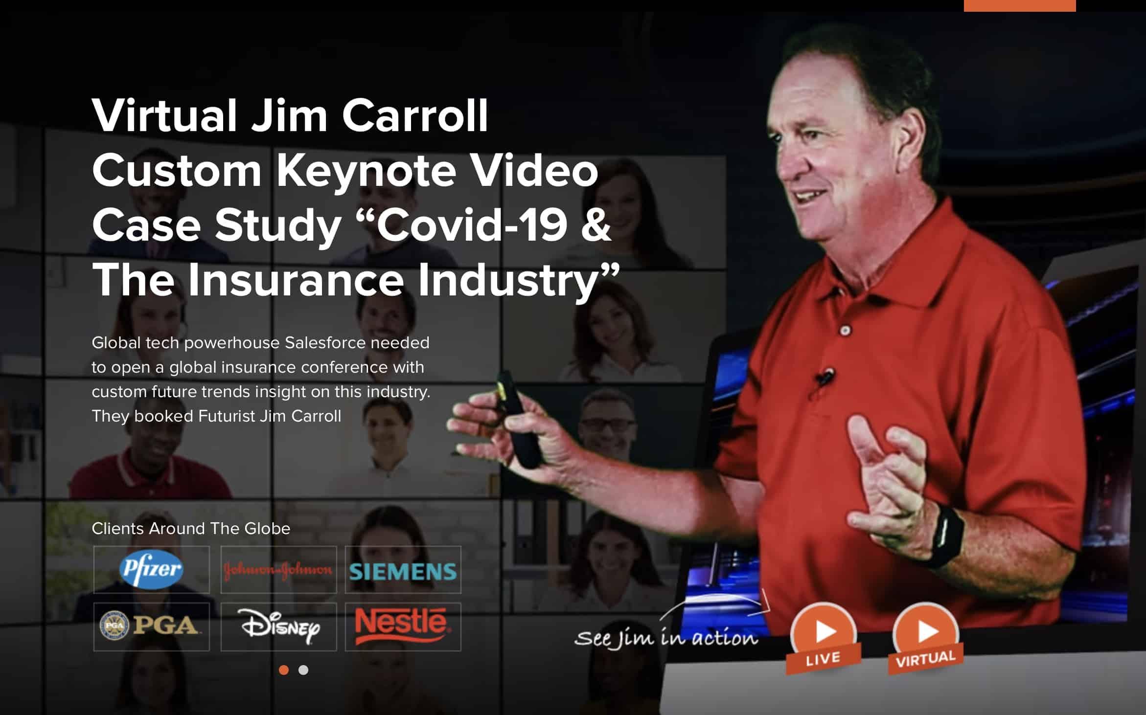 "Custom Keynote Video Case Study ""Covid-19 & The Insurance Industry"""