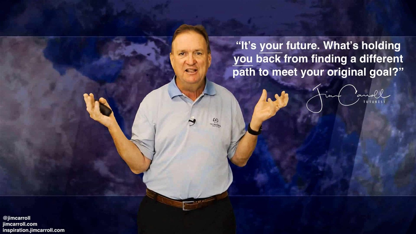 "Daily Inspiration: ""It's your future. What's holding you back from finding a different path to meet your original goal?"""