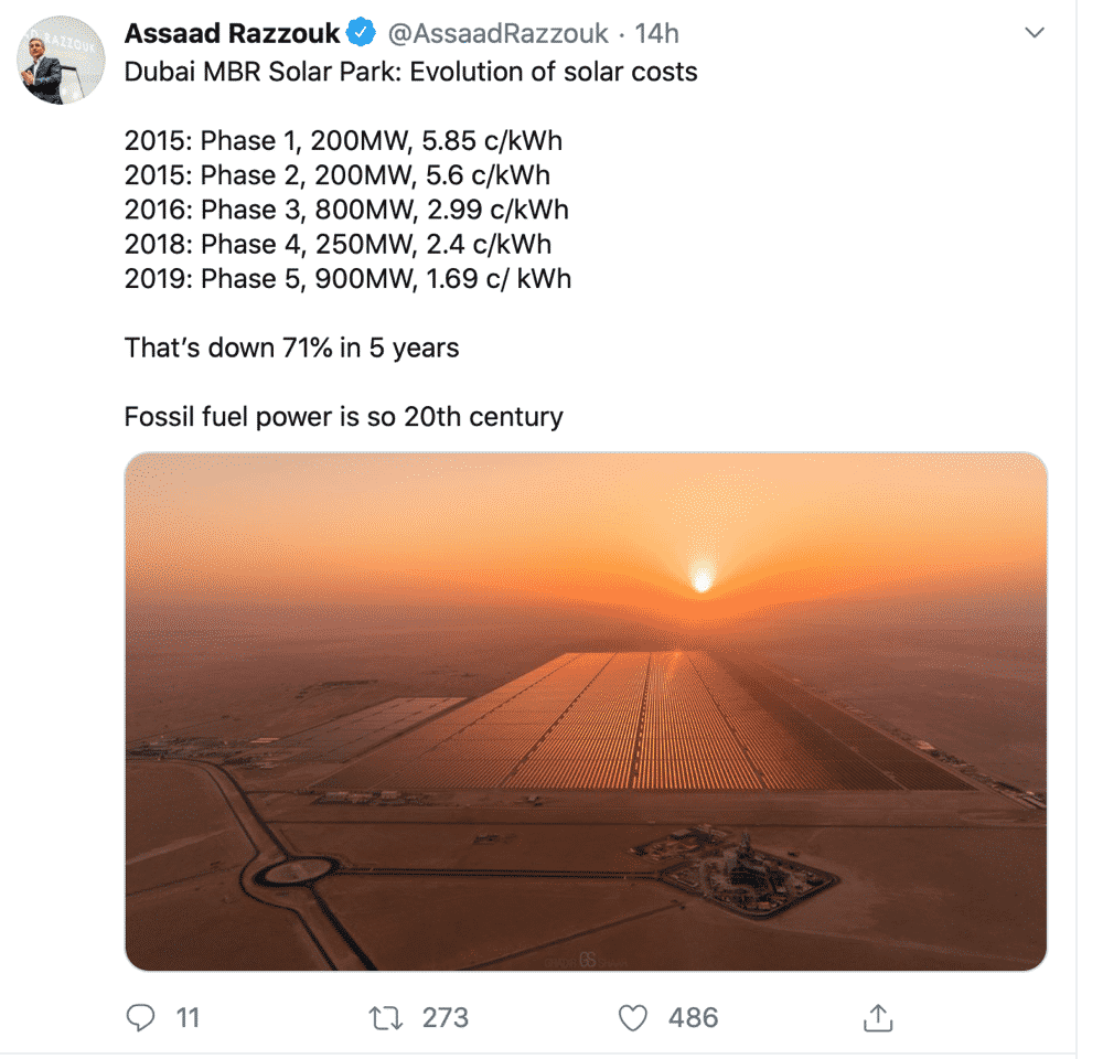 Dubai Solar Costs