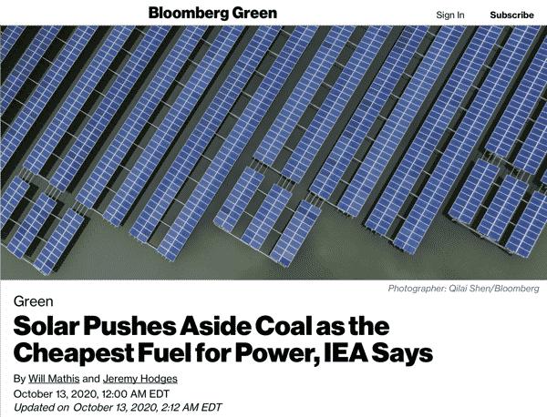 Solar vs Coal