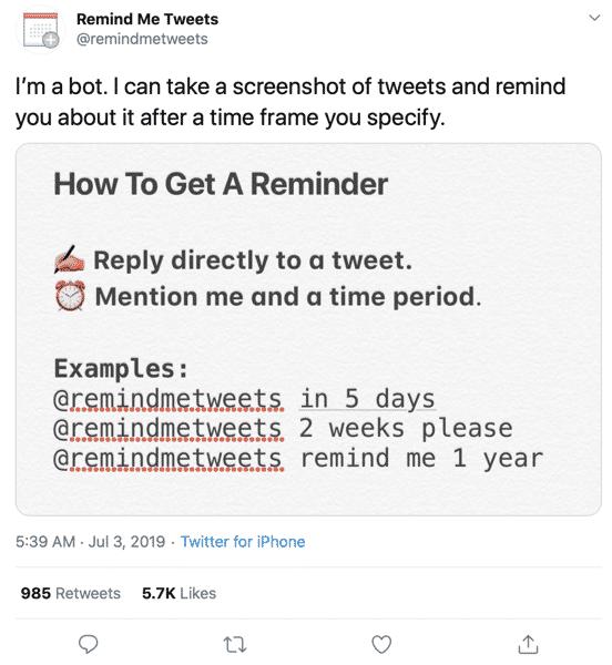 RemindMeTweets