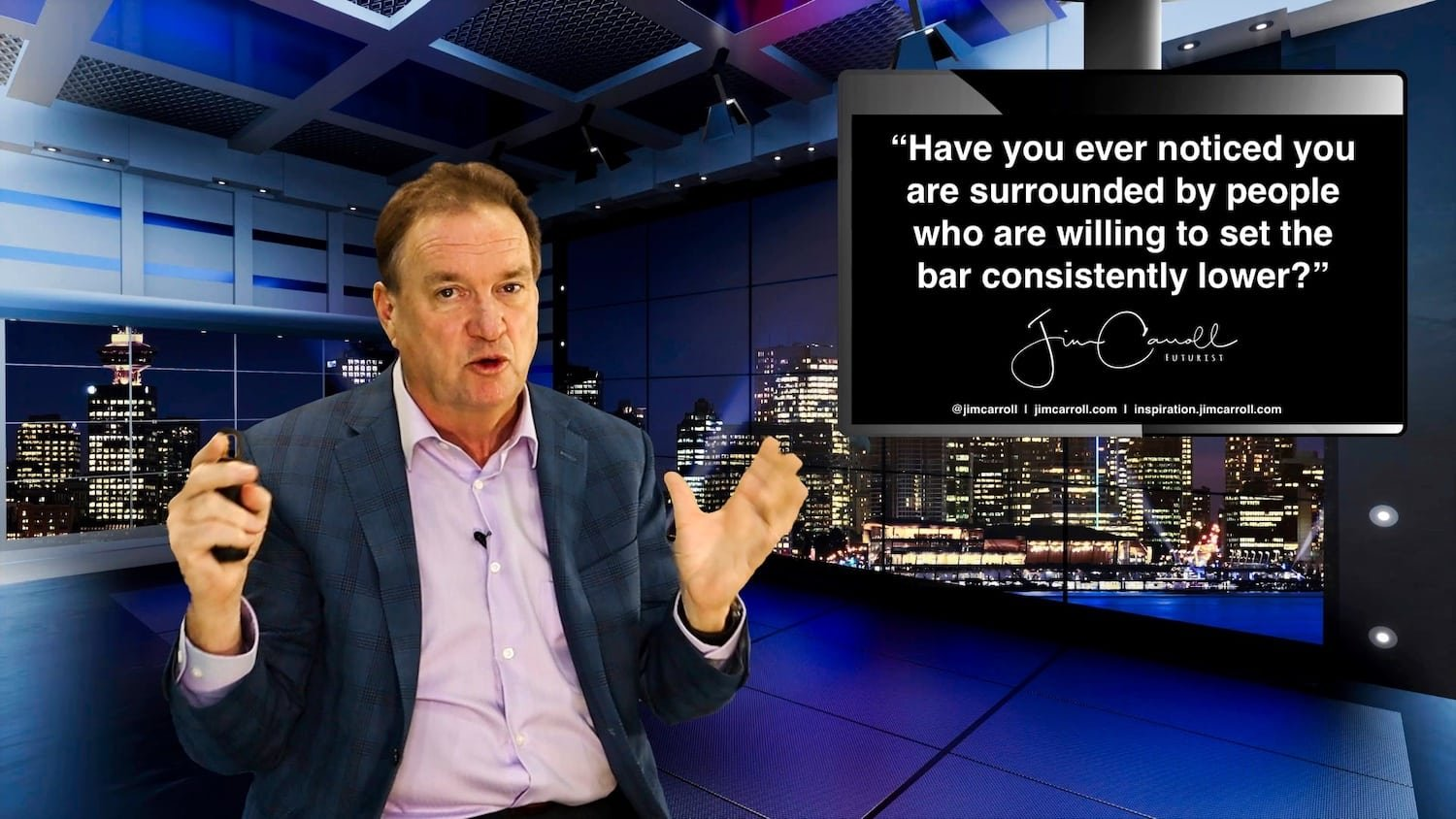 "Daily Inspiration: ""Have you ever noticed you are surrounded by people who are willing to set the bar consistently lower?"""