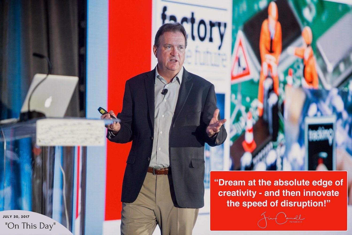 """Daily Inspiration: """"Dream at the absolute edge of creativity - and then innovate the speed of disruption!"""""""