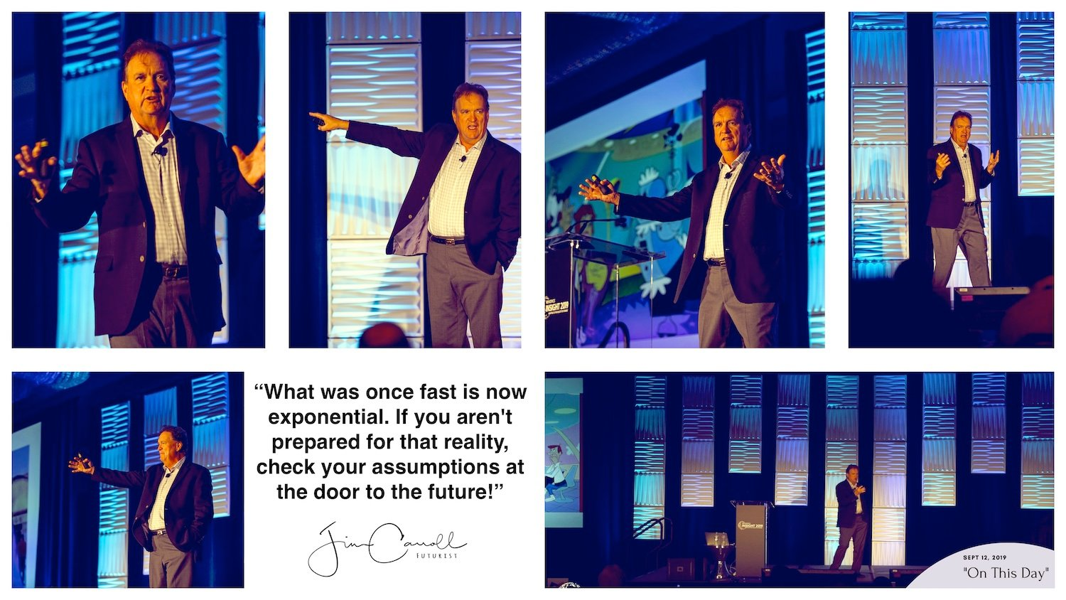 """Daily Inspiration: """"What was once fast is now exponential. If you aren't prepared for that reality, check your assumptions at the door to the future!"""""""